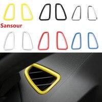 ABS Auto Dashboard Air Zustand Vent Outlet Dekoration Abdeckung Aufkleber für Chevrolet Camaro 2017 Up Auto Zubehör Styling-in Kfz Innenraum Aufkleber aus Kraftfahrzeuge und Motorräder bei