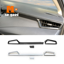 ABS Matte/Carbon 3pcs for Toyota Corolla E210 Sedan 2019 2020 Car Dashboard Console Air Conditioner Outlet AC Vent Cover Trim
