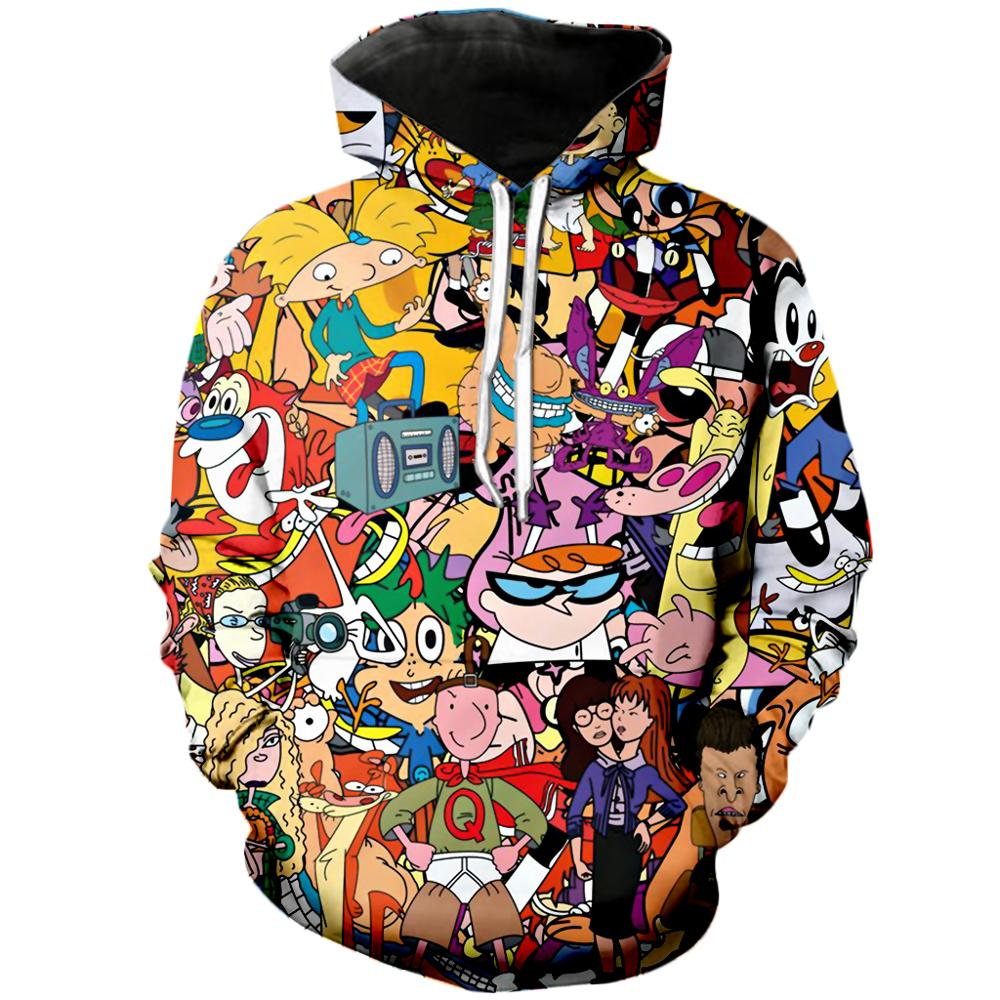 PLstar Cosmos Drop Shipping Fashion Men Hoodies Cartoon Totally 90's 3D Print Unisex Hoodie Streetwear Casual Hooded Sweatshirt