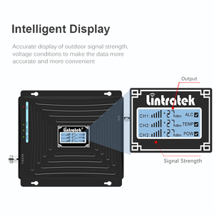 Image 4 - Lintratek tri band repetidor 850mhz CDMA 1800 2100 2G 3G 4G repeater GSM UMTS LTE 1800 4G booster mobile signal amplificador #5