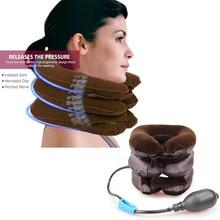 U-образная подушка для шеи, воздушная надувная подушка, шейный корсет для шеи, массажер для расслабления, подушка с воздушной подушкой, мягкая Тяговая подушка