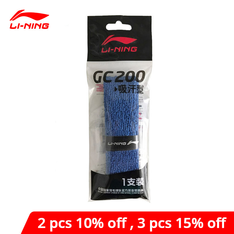 Li-Ning Badminton Overgrip GC200 Cotton Professional 1 Piece LiNing Li Ning Accessory Sports Equipment AYQM012 ZYF280