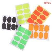 40 uds/5sheeets pizarra de colores pegatinas de especias tarro para mermelada para cocina organizadores etiquetas adhesivas pizarra pegatina