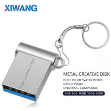 Mini USB 3.0 32GB 64GB capacidad Real usb flash drive 128GB pendrive 16GB 8GB pen unidad de disco u memoria flash stick envío gratis(China)