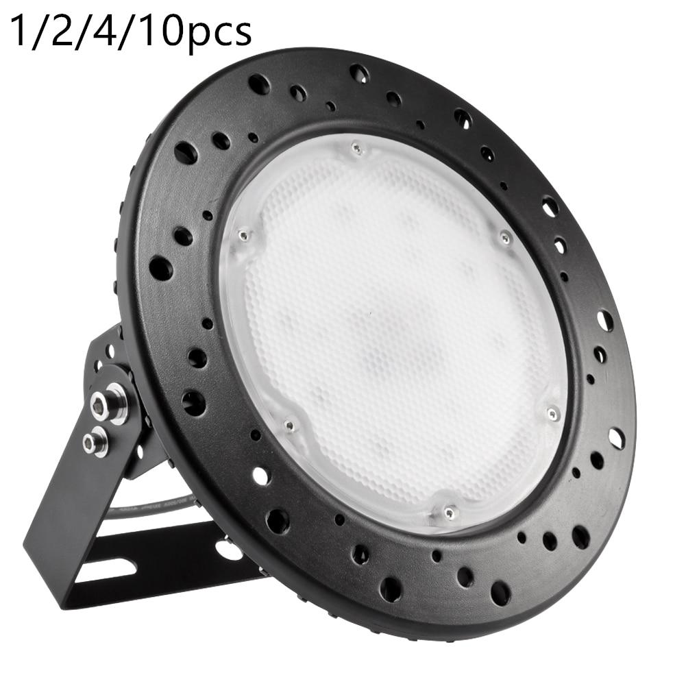 Ультратонкий Светодиодный светильник НЛО 100 Вт, 220 В, IP65, водонепроницаемый, для наружного коммерческого освещения, для промышленного склада, круглый светодиодный светильник