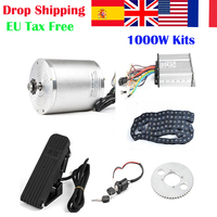 36V/48V 1000W Electric Scooter Motor,Dual Mode Brushless Electric Bike Bicycle Controller,Foot Pedal Switch Pedal ,T8F Chain