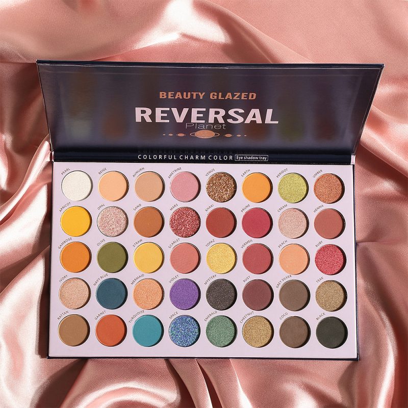 Beauty Glazed 40 Color Glitter Matte Eyeshadow Palette Long lasting Waterproof Palette Shimmer Matte Pigment Eyeshadow TSLM2