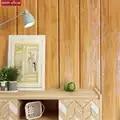Hout kleur hout patroon 3D foam muurstickers slaapkamer woonkamer muur rok achtergrond decoratie waterdichte foam muurstickers
