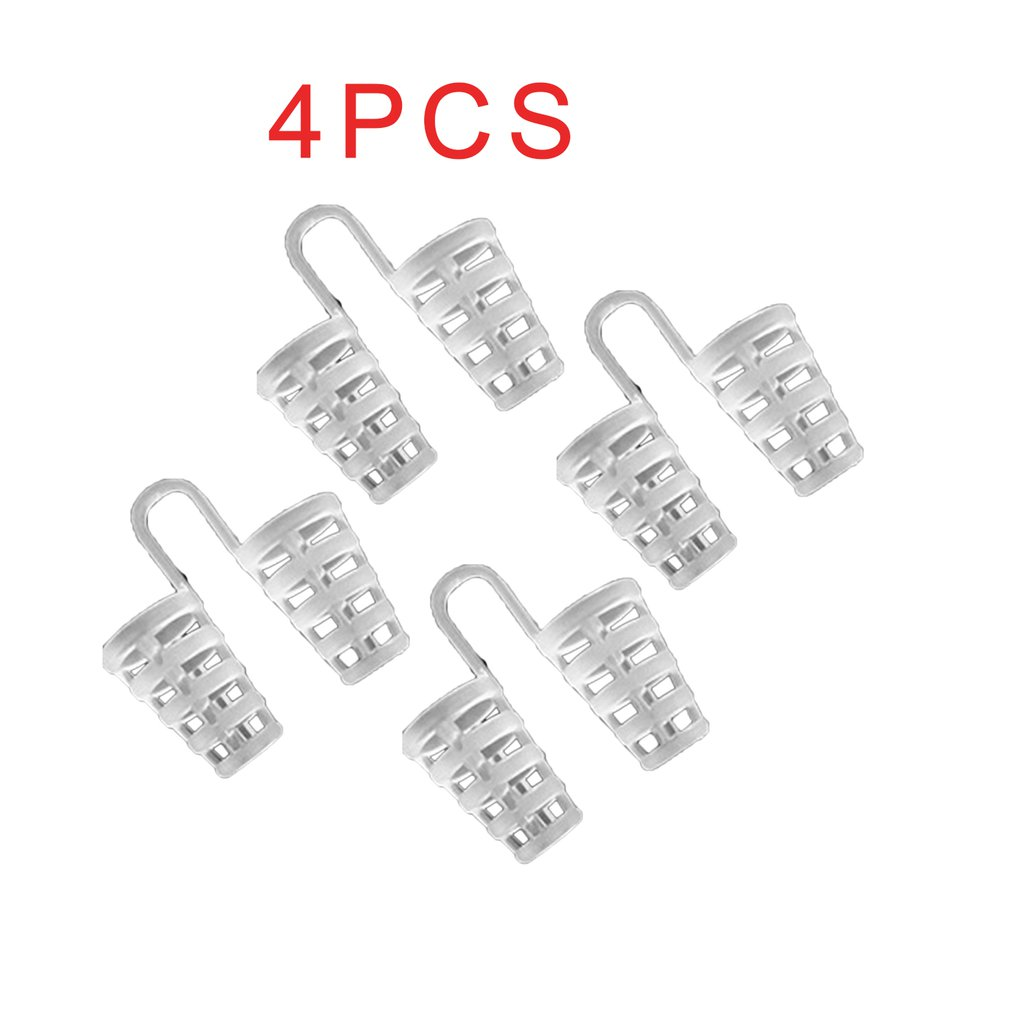 4pcs Silicone Nose Clip Mini Stoppers Treatment Snoring Blocker Night Sleeping Tools Nostril Comfort Stoppers Utensils
