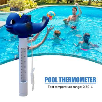 Floating Pool Thermometer Cute-shaped Bath/Water Spa Thermometer For Baby Bathing Hot Tub Float Thermometers Acces image