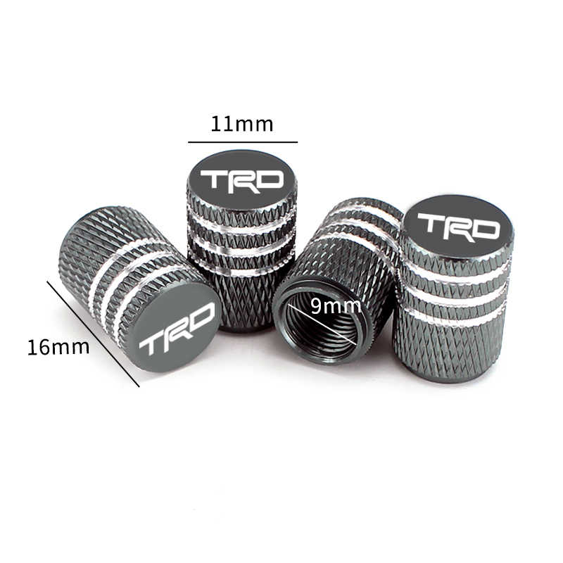 DER 4Piece//set Sport Styling Car Wheel Tire Valve Caps Case for Toyota for Corolla Yaris for Rav4 Avensis Auris Camry C-hr 86 Prius Emblem Color : Gold, Size : For Toyota LOGO