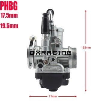 Carburador de motocicleta para carreras Aprilia RS50 47cc 49cc, carburador de motocicleta PHBG 17,5mm 19,5mm
