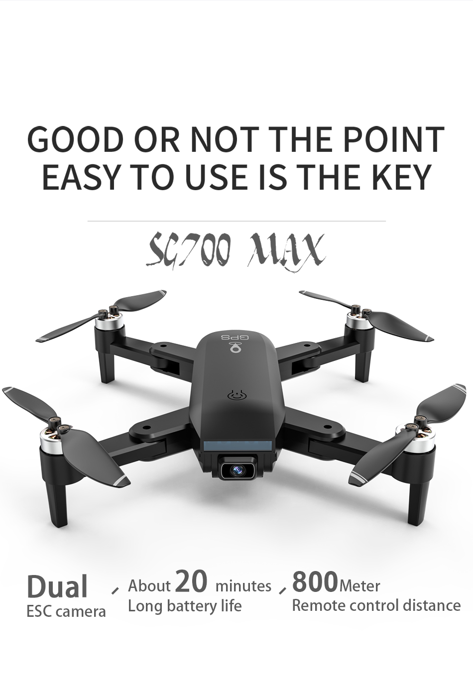 H00d646abf1d241a6a5684479e425bfcfF - ZLL SG700 MAX Drone GPS 5G WiFi Dual Camera Brushless Motor Flight RC Distance 800m SG700 Pro Foldable Professional Quadcopter