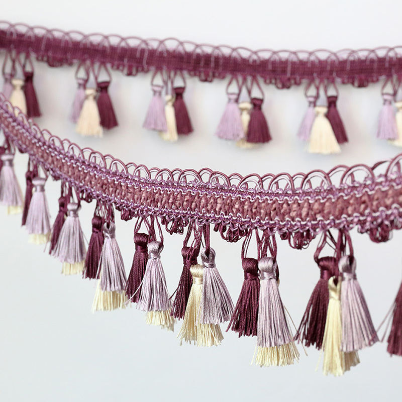 1M Tassel Trim DIY Sewing Edging Material Home Curtain Cushion Home Fringe Craft