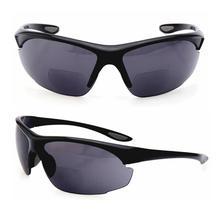 Sportowe czytniki przeciwsłoneczne dwuogniskowe czytanie okulary ochronne okulary mężczyźni kobiety dioptrii czytanie Presbyopic óculos Gafas De Lectura 1.53.0