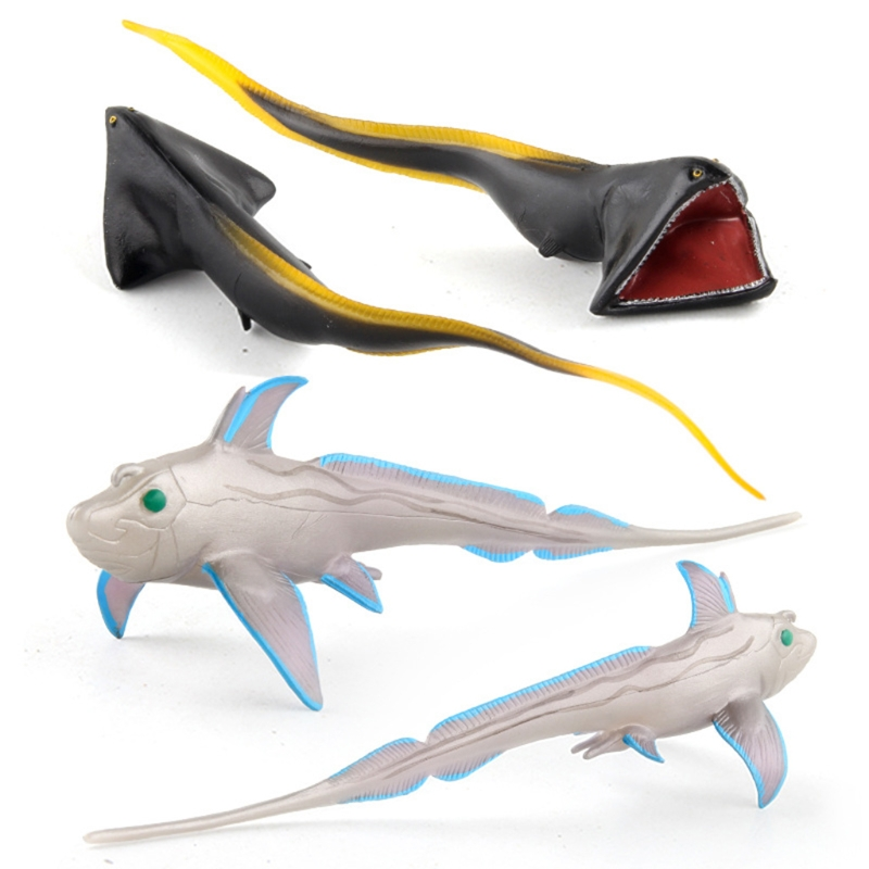 6 pcs oceano animal modelo conjunto realista 01