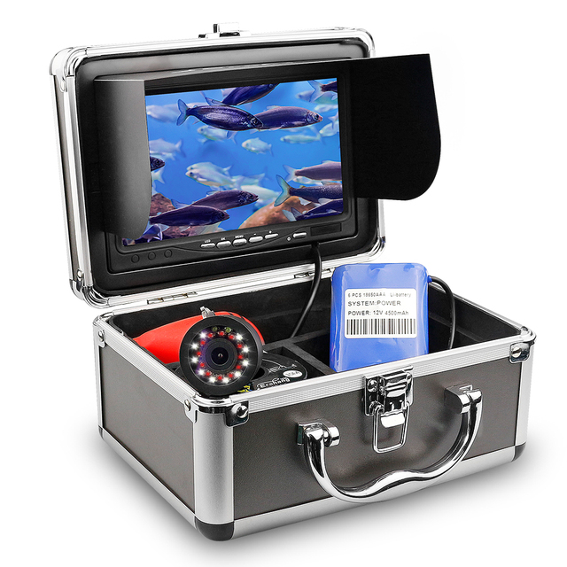 Fish Finder Underwater Fishing Camera HD 1280*720 Screen IR Infrared Bright White LED Camera For Fishing Recording Function