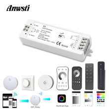 Wifi LED Dimmer Switch 12V 24V PWM 2.4G Touch RF Wireless Remote 5V 36V Smart Wifi Dimmer Controller for Single Color LED Strip