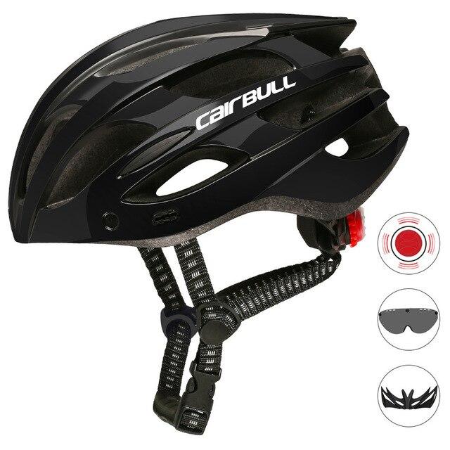 Cairbull capacete de ciclismo respirável, com viseira removível, óculos de bicicleta, lanterna traseira, segura, capacetes de montanha e estrada mtb 3