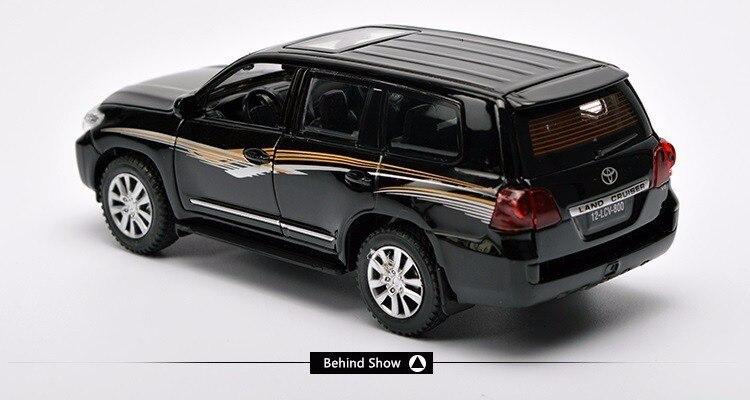 Toyota Land Cruiser Suv Coleção Em Metal Fundido Modelo Carro puxe para trás Carro Brinquedo Veículo