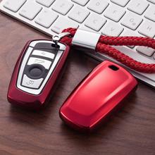 Obudowa kluczyka do samochodu pokrowiec na bmw 520 525 f30 f10 F18 118i 320i 1 3 5 7 serii X3 X4 M3 M4 M5 Car Styling miękka ochrona tpu obudowa kluczyka tanie tanio FGHGF white pink gold black sliver blue soft