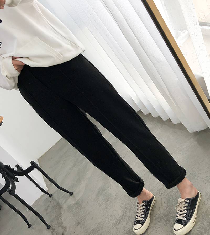 H00d6d5dc31d74b3f9787da45ad767e4dF - Thicken Women Pencil Pants Autumn Winter Plus Size OL Style Wool Female Work Suit Pant Loose Female Trousers Capris 6648 50