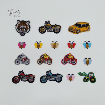 New arrive Cartoon Car Bee Patch Embroidery Applique Iron on patch DIY Hot melt adhesive Motifs Clothing Badges Accessories image