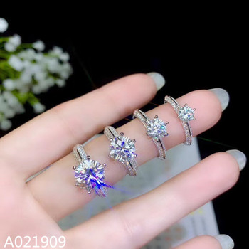 KJJEAXCMY boutique jewelry 925 sterling silver inlaid Mosang Diamond gemstone ladies ring support detection fashion