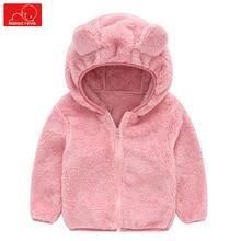 купить autumn winter baby kids hodded coats cute girls boys jackets warm children overcoat child outerwear дешево