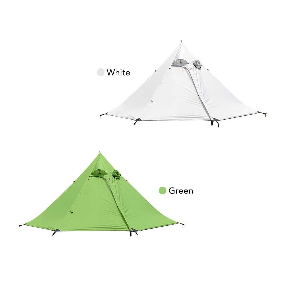 في الهواء الطلق 3-4 أشخاص خفيفة الهرم خيمة على ظهره خيمة مقاوم للماء 4 الموسم خيمة مقاوم للماء ألياف البوليستر