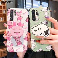 Cute Cartoon Pig Holder Stand Silicone Phone Case for Huawei