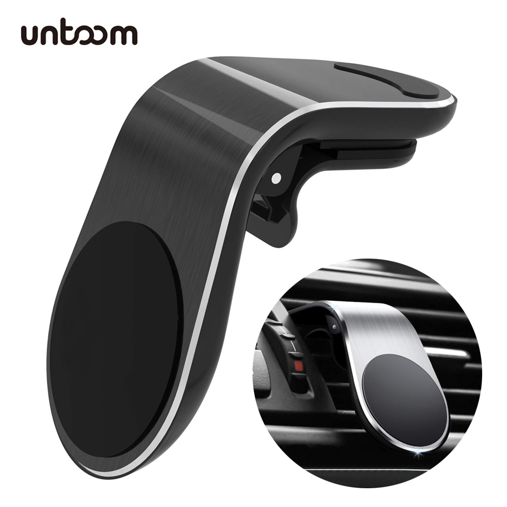 Magnetic Car Phone Holder Stand In-Car Air Vent Cell Phone Mount 360 Degree Rotation Metal Magnet Car Phone Mount GPS Telephone