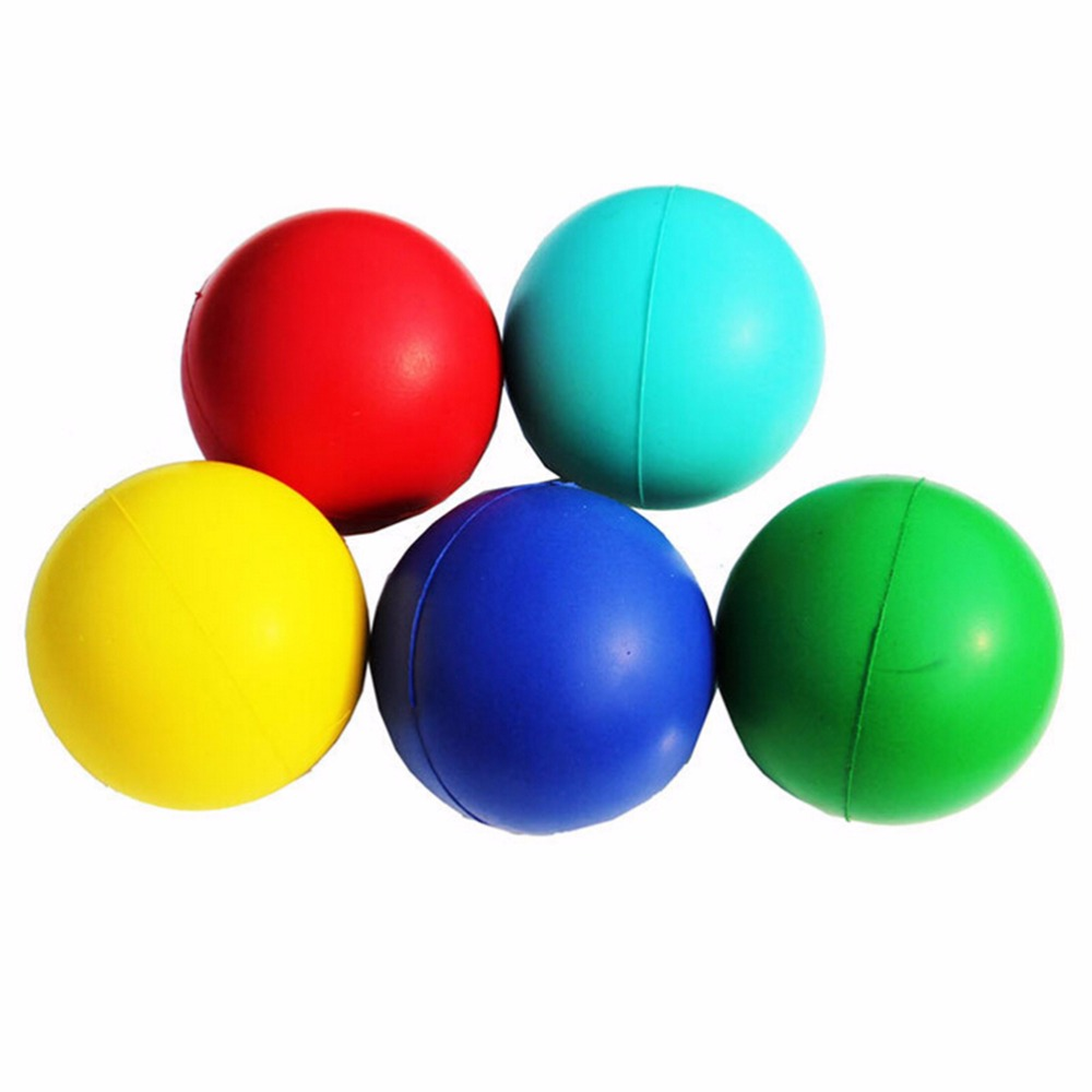 1pc Toy Balls Stress Fidget Hand Relief Squeeze Foam Squish Balls Kids Toys Reusable Stress Relief Ball Colorful 7cm