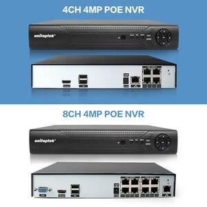 Image 4 - H.265 4MP CCTV Sicherheit Kamera System 4CH 8CH POE NVR Mit IP Kamera CCTV Kit Wasserdichte IP66 Video Überwachung System XMEye