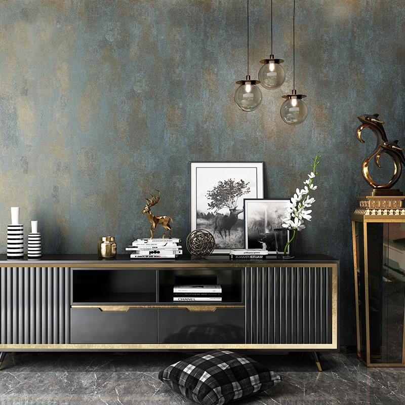 Vintage Non-woven Plain Solid Color Wallpaper Luxury Bedroom Living Room Sofa TV Background Home Decor Wallpaper For Walls Roll