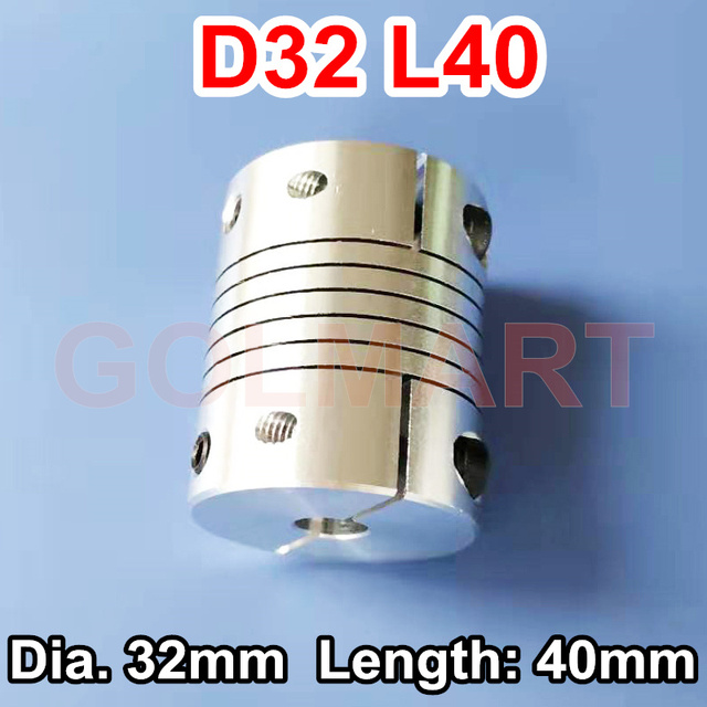 Aexit Motor Shaft Electrical equipment 12mm to 12mm Joint Helical Beam Coupler Coupling 32mm Dia 40mm Length