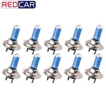 10pcs 24V H7 100W Halogen Bulb Super Bright Fog Lights High Power Car Headlight Lamps for Car Light Source parking White 5500K