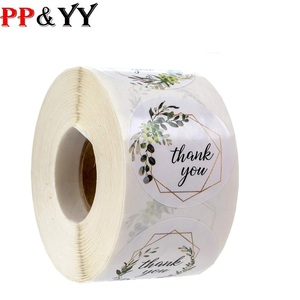 500 labels roll flower thank you stickers seal label handmade custom sticker scrapbooking for gift decoration stationery sticker