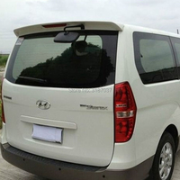 For Hyundai H 1 Wagon Spoiler ABS Plastic Unpainted Color Rear Roof Spoiler Wing Trunk Lip Boot Cover Car Styling