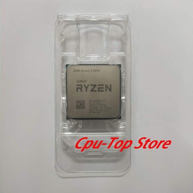 AMD Ryzen 5 3600 R5 3600 3.6 GHz שש ליבות עשר חוט מעבד מעבד 7NM 65W L3 = 32M 100 000000031 שקע AM4 אין מאוורר