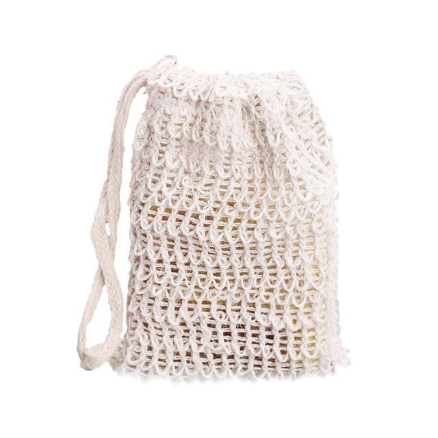 10Pcs/set Exfoliating Soap Bag Cleansers Natural Portable Soap Saver Soft Foaming Massage Bag Cotton Soap Saver Pouch Holder 4