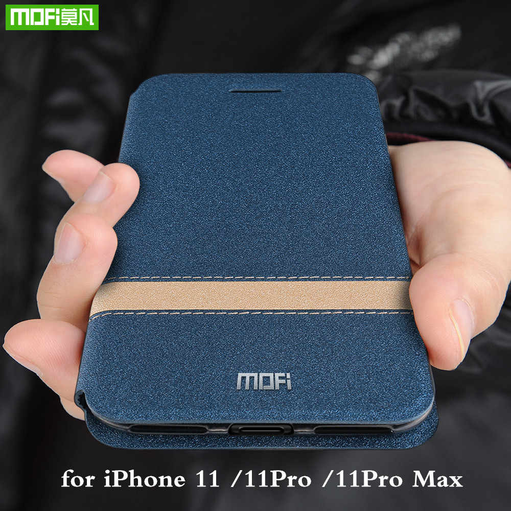 Capa flip de silicone para iphone, capa estilo mofi, à prova de choque, para modelos apple 11pro 11pro max coque nova marca