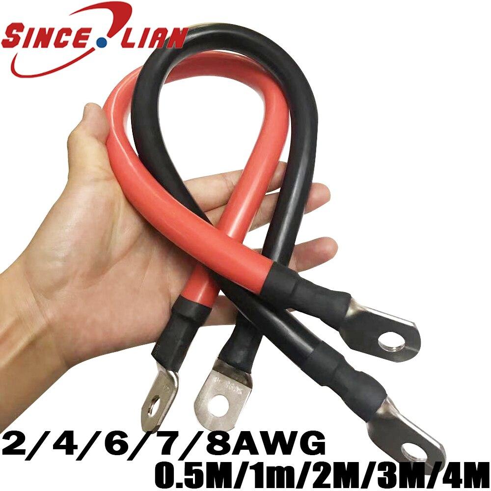 Verzinnt Kupfer Draht 2AWG 4AWG 6AWG 7AWG 8AWG Weiche Silikon Kabel Draht 12/16/25/35 platz batterie Linie Power Terminal silikon Linie