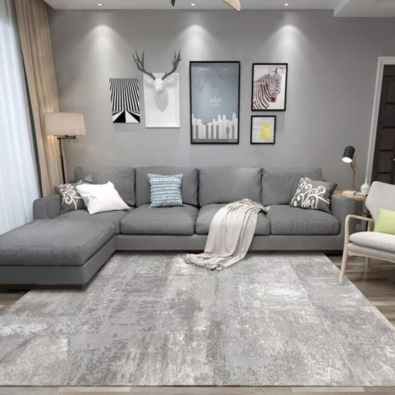 Modern Abstract Simple Carpet And Rug Black White Ink Painting Printed Tapete Living Room Bedroom Area Rugs Non-Slip Floor Mats