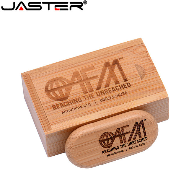 JASTER (over 1 PCS free LOGO) maple Wooden USB +  box USB Flash pen drive  4GB 8GB 16G 32GB 64GB Memory stick photography gifts