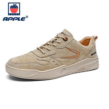 Apple/зимняя модная мужская обувь брендовые кожаные мужские