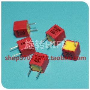 Image 1 - 10PCS NEW RED WIMA FKP2 0.01UF 100V PCM5 Audio 100V0.01UF hot sale FKP 2 10NF 103/100V p5mm 10nF/100V