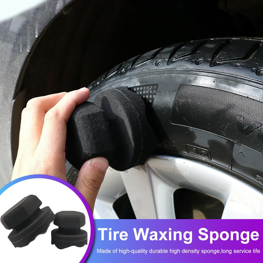 Professional Automotive Car Wheel Washer Tyre Tire Dressing Tools Hex Grip Applicator Handheld Tire Waxing Sponge