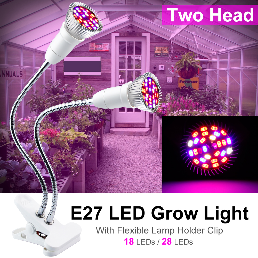 Plants Seeds Flower Full Spectrum LED EU/US Light Bulbs For Plant Growth Indoor Lighting Grow Light E27 For Indoor Seedlings