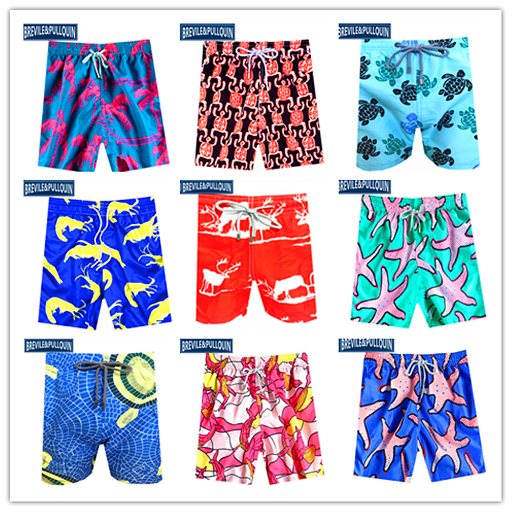 Promotion 2020 Bermuda Board Shorts Mens Swimsuits Brevile Pullquin Beach Swimtrunks Male Turtles Boardshorts Swimwear Quick Dry